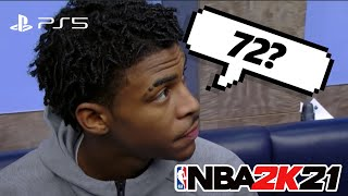 NBA PLAYERS REACT TO THEIR NBA 2K21 RATINGS 😂 ...