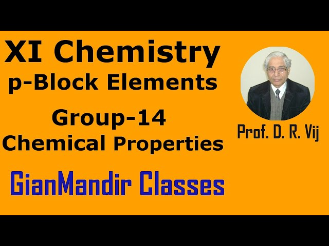 XI Chemistry | p-Block Elements | Group 14 | Chemical Properties  by Ruchi Mam