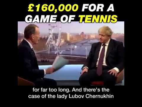 Boris Johnson was payed 160k by Russian oligarchs for game of tennis