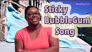 Sticky Bubble Gum Song for kids - Littlestorybug