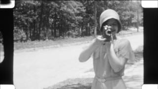 1920s & 1930s 16mm Home Movie. Girls Private School, Airships, Automobiles, Atlantic City & more!