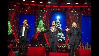 "Jermaine Jackson, Jaafar Jackson & Jermajesty Jackson ""The Christmas Song"" at MAX Proms 2017"