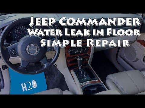 Jeep Commander Sunroof Water Leak In Floor Simple Repair Youtube
