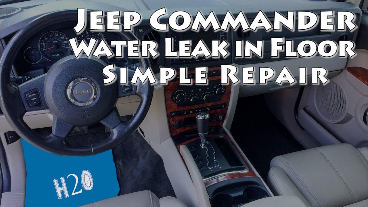 Jeep Commander Sunroof Water Leak In Floor Simple Repair