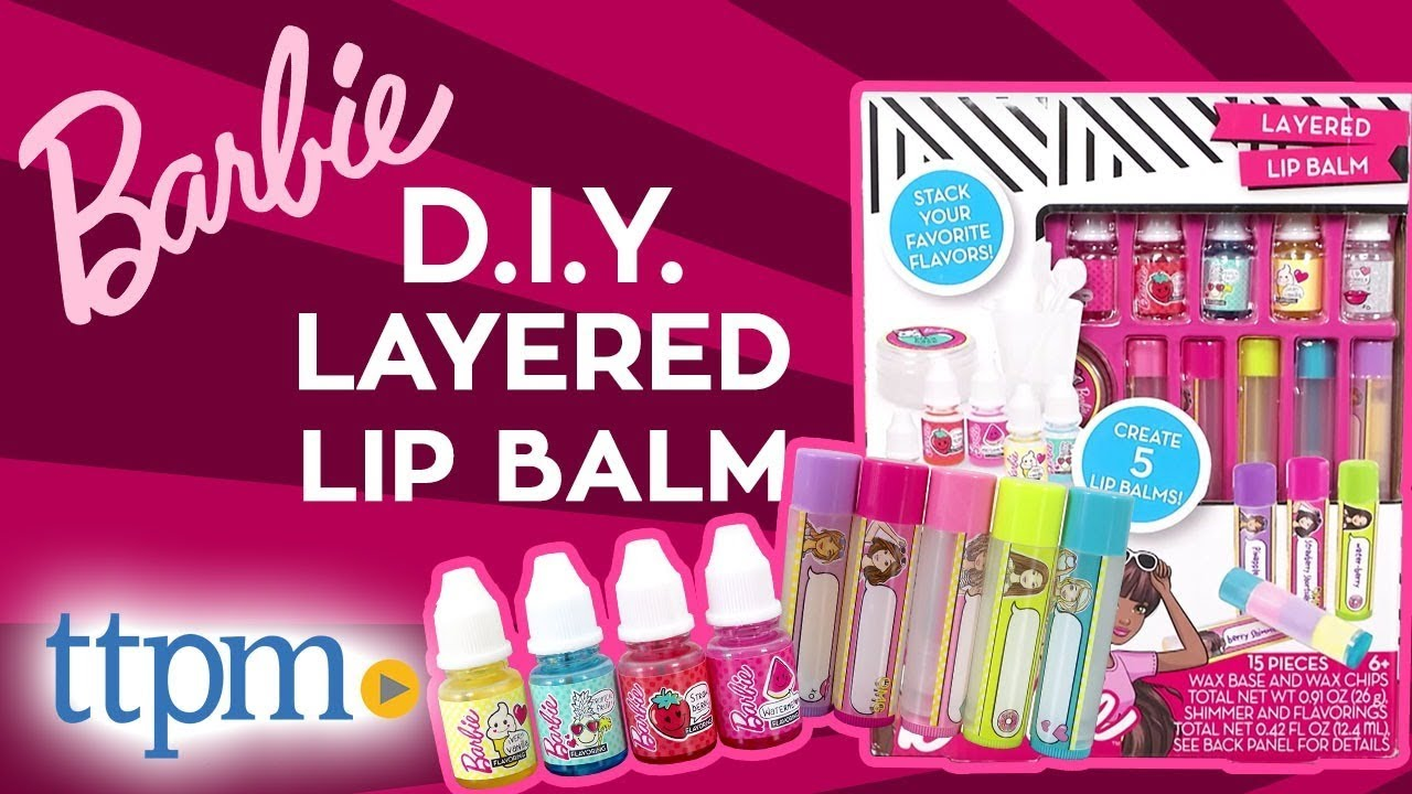 Barbie Style Diy Layered Lip Balm Kit Horizon Group Usa