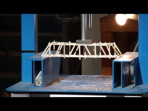 APEG Popsicle-Stick Bridge Contest 2016