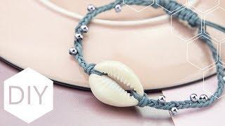 DIY sieraden maken met Kralenhoekje - Gevlochten armband met schelp