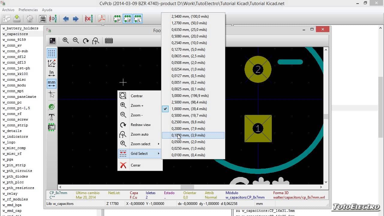 Tutorial Kicad 5, Asignación de Footprints con CvPCB