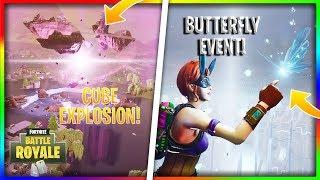 FORTNITE events - ESPLOSIONE DEL CUBO - cube explosion, butterfly event - ILKI Liuk1522