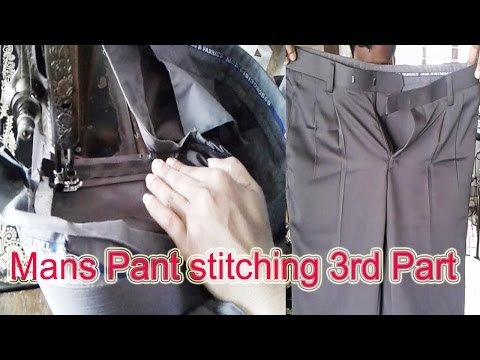 Mans Pant stitching 3rd Part | Gents Pant Sewing Full | প্যান্ট সেলাই তৃতীয় অংশ | OBSESS Tailars