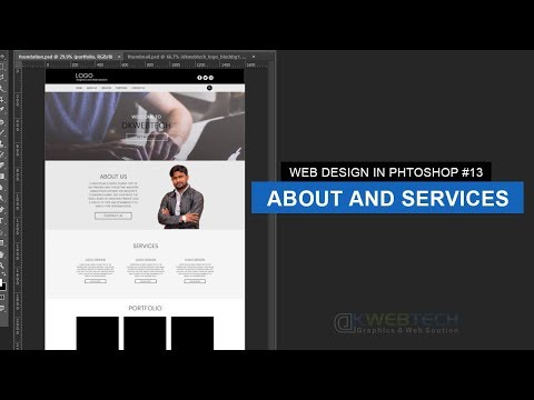 About And Services Section | Web Design In Photoshop #13