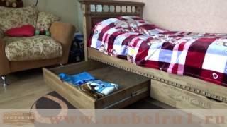 Кровать из массива дуба -