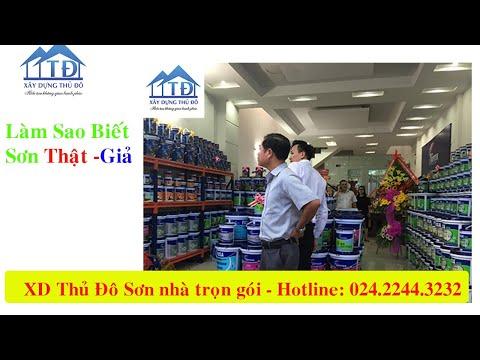 Cách phân biệt các loại sơn thật sơn giả trên thị trường SDT 02422443232