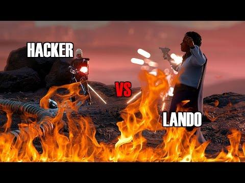 Star Wars Battlefront - Insane Hacker Vs Lando Glitcher