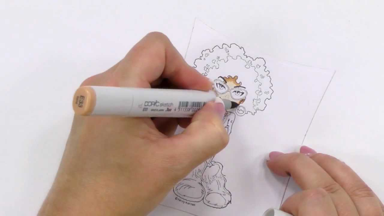 Copic Coloring Guide Level 3: People - Copic Marker Project Demonstration |  an Annie\'s Tutorial