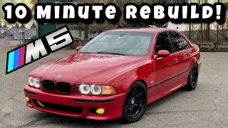 Gambar cover Rebuilding A Salvage Auction BMW M5 in 10 MINUTES! (Epic Rebuild)