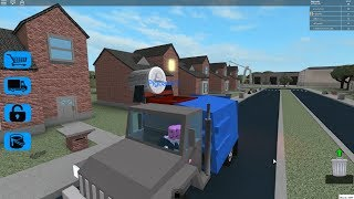 [as a block (Roblox)] get rid of the garbage in the village I'd make clear!! Truck driving away the trash! (Garbage Truck Simulator) is a simple review & play video
