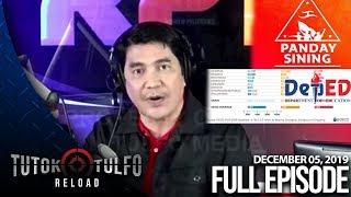 Download Mp3 Tutok Tulfo Reload | December 05, 2019 Full Episode