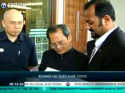 Ronnie Liu Sues Khir Toyo