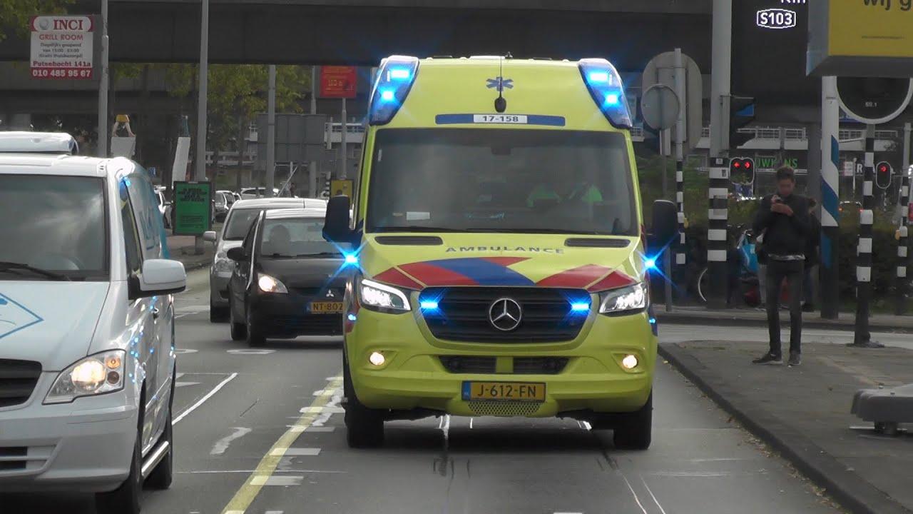 Nieuwe Ambulance 17-158 met spoed voor een overplaatsing! #1176