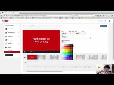 How to create a video with pictures and music in youtube - C