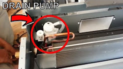 Concealed duct mini split air conditioner reviews and remove Drain Pan