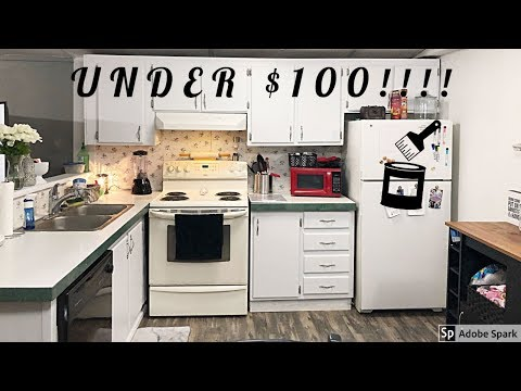 CABINET TRANSFORMATION | UNDER $100 | MOBILE HOME REMODEL