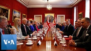 President Trump and British PM May Meet Business Leaders
