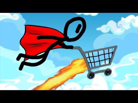 LOOK MA IM FLYING! | SHOPPING CART HERO 3