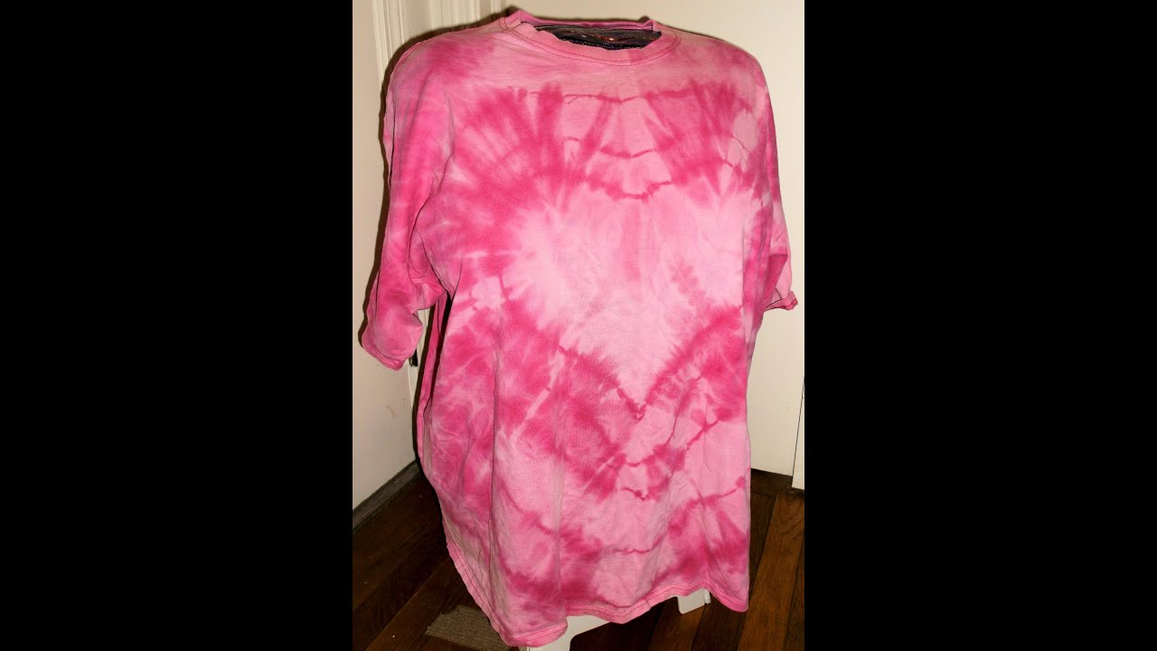 How to bleach tie dye a heart shirt youtube for How to bleach at shirt
