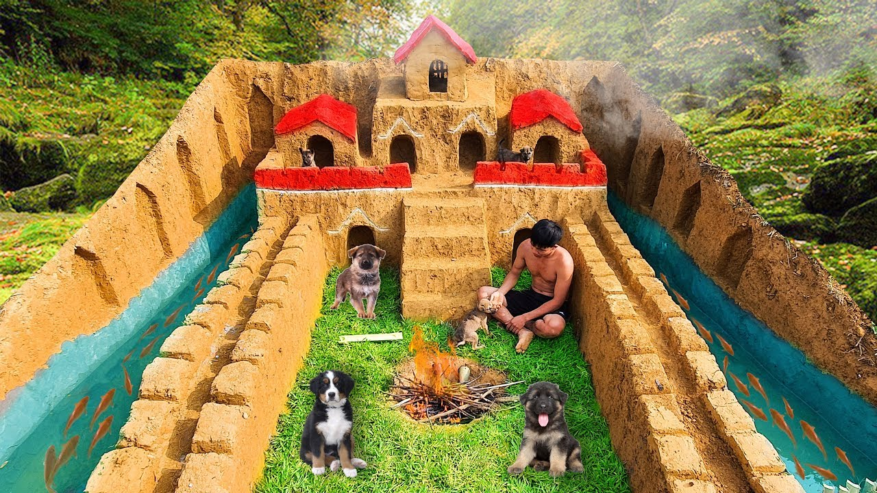 Rescue Abandoned Puppies And Build The Greatest Underground House For Them