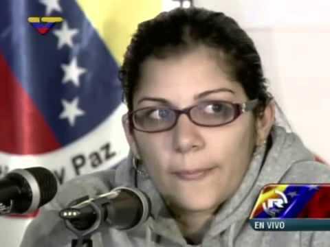 Nairobi Pinto y Miguel Rodríguez Torres dan declaraciones tras su liberación