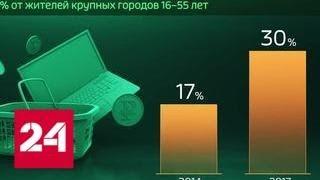 Россия в цифрах. Как развивается онлайн-торговля в России - Россия 24