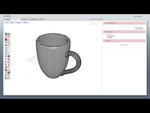 004 Creating a 3d printable CUP using scribble3d