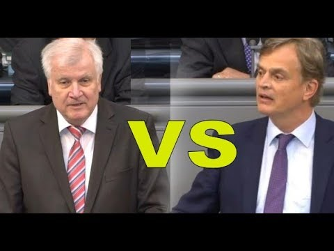 AFD Baumann vs CSU Seehofer - Familiennachzug - HD - Bundestag - Bernd Baumann