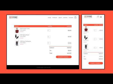 How To Make Shopping Cart Page On eCommerce Website | E-commerce Web Design Using HTML CSS