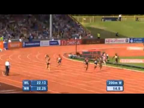 Okagbare Beats  Fraser Pryce 22.55 - IAAF Diamond League Birmingham 2013
