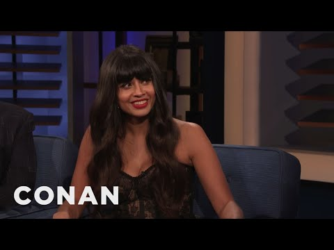 Jameela Jamil's First DJ Gig Was Sir Elton John's Birtay Party - CONAN on TBS