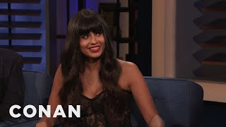 Jameela Jamil's First DJ Gig Was Sir Elton John's Birthday Party - CONAN on TBS