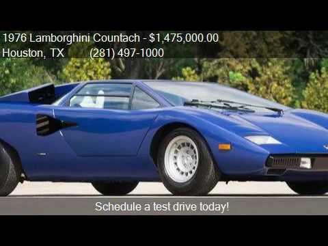 1976 Lamborghini Countach For Sale In Houston Tx 77079 At Youtube