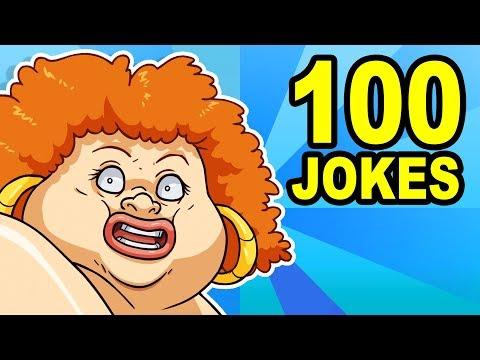 100 YO MAMA SO FAT JOKES - Can You Watch Them All?
