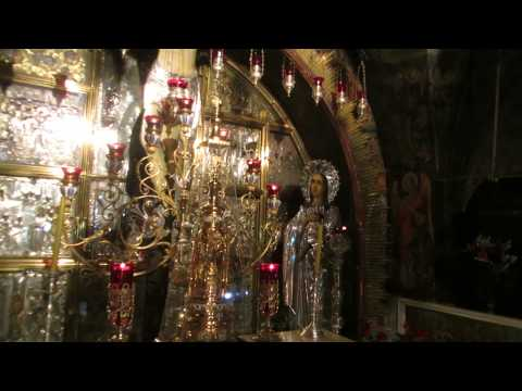 Calvary (Golgotha), the site of the crucifixion of Jesus, Jerusalem. Church of the Holy Sepulchre