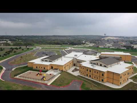Aerial view of Herff Elementary School Boerne, TX