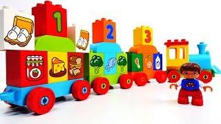 #Мультики для малышей - #ЛЕГО Паровозик здорового питания. Игрушки для детей - Лего Дупло #Lego