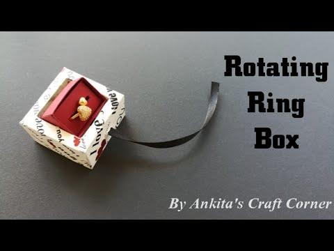 Rotating ring box | Rotating box tutorial | DIY Rotating Box