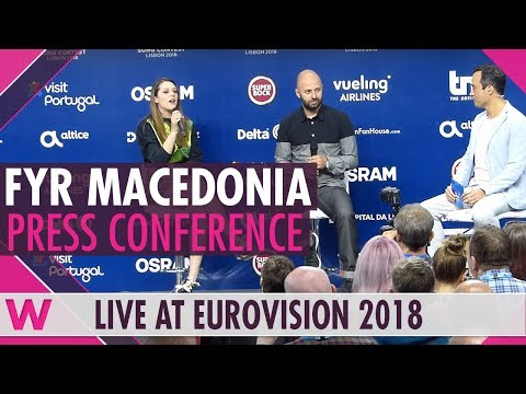 "FYR Macedonia Press Conference: Eye Cue ""Lost and Found"" @ Eurovision 2018 