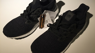 9aae0e143d3c2 Close-up Unboxing Adidas Ultra Boost 3.0 BA8842 Core Black