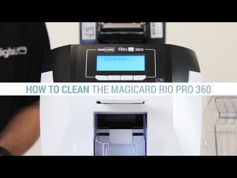 How to Clean the Magicard Rio Pro 360 ID Card Printer