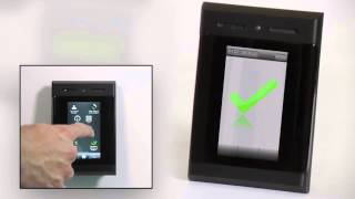 CEM Systems- emerald™ touch screen card reader and controller- LCD hardened glass touch screen