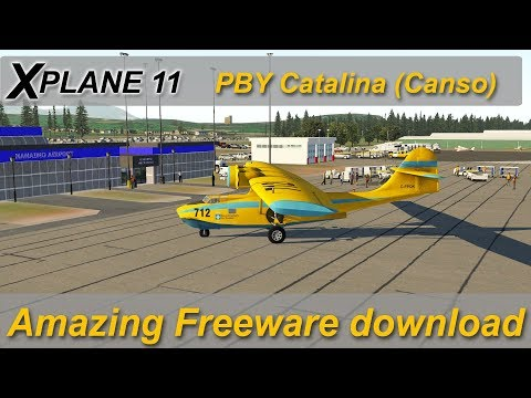 X-plane 11: PBY Catalina Amazing freeware aircraft (was payware)